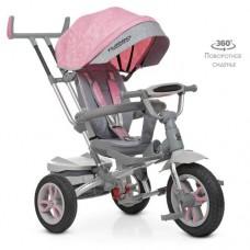 Детский трехколесный велосипед M 4058-15 Turbo Trike с поворотным сидением НЕЖНО-РОЗОВЫЙ