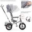Детский трехколесный велосипед M 4058-19 Turbo Trike с поворотным сидением СВЕТЛО-СЕРЫЙ