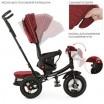 Детский трехколесный велосипед M 4060 Turbo Trike КРАСНЫЙ ЛЁН с USB, поворотным сидением + пульт