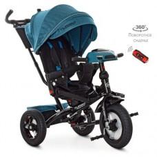 Детский трехколесный велосипед M 4060 Turbo Trike ИЗУМРУД ТВИД с USB, поворотным сидением + пульт
