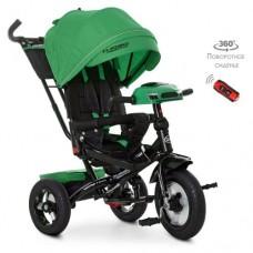 Детский трехколесный велосипед M 4060 Turbo Trike ЗЕЛЕНЫЙ с USB, поворотным сидением + пульт
