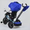 Детский трехколесный велосипед Best Trike 4490-2761 поворотное сидение + пульт СИНИЙ