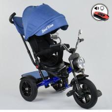 Детский трехколесный велосипед Best Trike 4490-3525 поворотное сидение + пульт СИНИЙ
