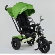 Детский трехколесный велосипед Best Trike 4490-3553 поворотное сидение + пульт САЛАТОВЫЙ