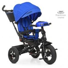 Детский трехколесный велосипед M 5448HA-10 Turbo Trike ИНДИГО с поворотным сидением