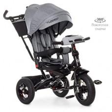 Детский трехколесный велосипед M 5448HA-19T Turbo Trike СЕРЫЙ ТВИД с поворотным сидением