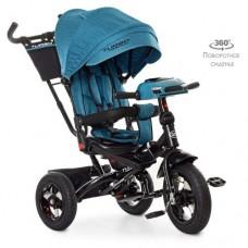 Детский трехколесный велосипед M 5448HA-21T Turbo Trike ИЗУМРУД ТВИД с поворотным сидением