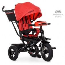 Детский трехколесный велосипед M 5448HA-3 Turbo Trike КРАСНЫЙ с поворотным сидением