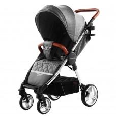 Детская прогулочная коляска CARRELLO Milano CRL-5501 Carbon Grey + дождевик