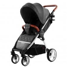Детская прогулочная коляска CARRELLO Milano CRL-5501 Solid Grey + дождевик