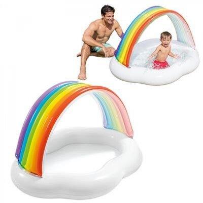Детский надувной бассейн 57141 Intex Радуга