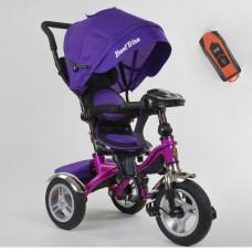Детский трехколесный велосипед Best Trike 5890-81-540 с USB с поворотным сидением + пульт ФИОЛЕТОВЫЙ
