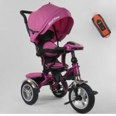 Детский трехколесный велосипед Best Trike 5890-82-239 с USB с поворотным сидением + пульт РОЗОВЫЙ