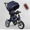 Детский трехколесный велосипед Best Trike 5890-83-067 с USB с поворотным сидением + пульт СИНИЙ