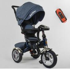 Детский трехколесный велосипед Best Trike 5890-84-710 с USB с поворотным сидением + пульт ДЖИНС