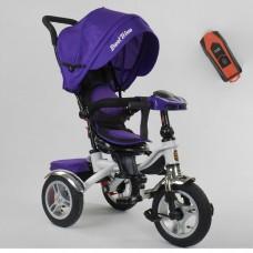 Детский трехколесный велосипед Best Trike 5890-85-975 с USB с поворотным сидением + пульт ФИОЛЕТОВЫЙ