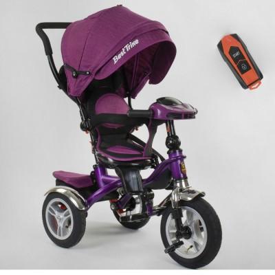 Детский трехколесный велосипед Best Trike 5890-86-315 с USB с поворотным сидением + пульт ФУКСИЯ