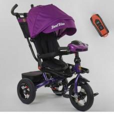 Детский трехколесный велосипед 6088 F -01-570 Best Trike с USB поворотное сидение + пульт ФИОЛЕТОВЫЙ