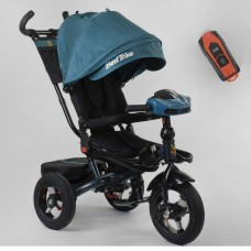 Детский трехколесный велосипед 6088 F -02-940 Best Trike с USB поворотное сидение + пульт БИРЮЗОВЫЙ