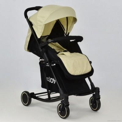 Детская прогулочная коляска с функцией качания JOY T 609 БЕЖЕВАЯ
