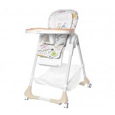 Детский стульчик для кормления TILLY Bistro T-641/2 Beige (водонепроницаемая ткань)