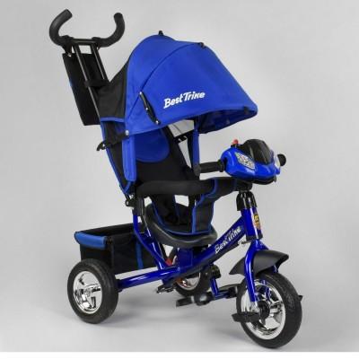 Детский трёхколёсный велосипед Best Trike 6588-25-988 СИНИЙ с фарой