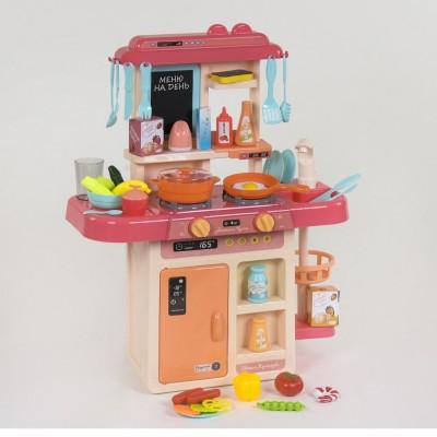 Детская игровая кухня с водой и паром 7426 РОЗОВАЯ