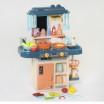 Детская игровая кухня с водой и паром 7426 СИНЯЯ