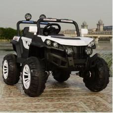 Детский электромобиль джип T-7840 EVA WHITE 4-моторный