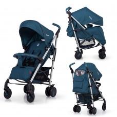 Детская прогулочная коляска CARRELLO Arena CRL-8504 Shadow Blue в льне алюминий