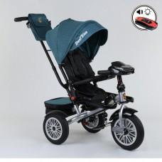 Детский трехколесный велосипед Best Trike 9288 B - 1690 с поворотным сидением + пульт БИРЮЗОВЫЙ