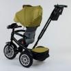 Детский трехколесный велосипед Best Trike 9288 B - 3679 с поворотным сидением + пульт ХАКИ