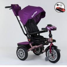 Детский трехколесный велосипед Best Trike 9288 B - 3920 с поворотным сидением + пульт ФИОЛЕТОВЫЙ