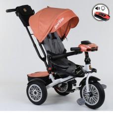 Детский трехколесный велосипед Best Trike 9288 B - 4716 с поворотным сидением + пульт ОРАНЖЕВЫЙ