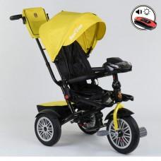 Детский трехколесный велосипед Best Trike 9288 B - 4835 с поворотным сидением + пульт ЖЕЛТЫЙ