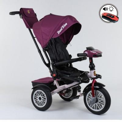 Детский трехколесный велосипед Best Trike 9288 B - 6945 с поворотным сидением + пульт ФУКСИЯ