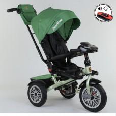 Детский трехколесный велосипед Best Trike 9288 B - 7215 с поворотным сидением + пульт ЗЕЛЕНЫЙ
