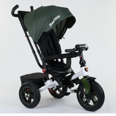 Детский трехколесный велосипед Best Trike 9500 - 2265 с поворотным сидением ТЕМНО-ЗЕЛЕНЫЙ