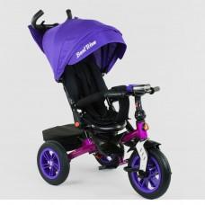 Детский трехколесный велосипед Best Trike 9500 - 3046 с поворотным сидением ФИОЛЕТОВЫЙ