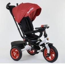 Детский трехколесный велосипед Best Trike 9500 - 7750 с поворотным сидением КРАСНЫЙ (белая рама)