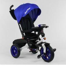 Детский трехколесный велосипед Best Trike 9500 - 9070 с поворотным сидением СИНИЙ (белая рама)