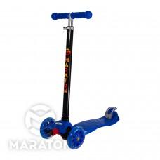 Детский трехколесный самокат Maraton Maxi № 98 СИНИЙ