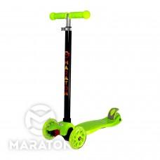 Детский трехколесный самокат Maraton Maxi № 98 САЛАТОВЫЙ