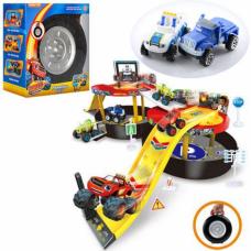 Детский игровой гараж паркинг в чемодане 828-56 Вспыш