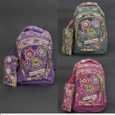 Детский рюкзак с пеналом 0007-18/555-466 ткань лён