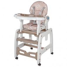 Детский стульчик для кормления трансформер на колесиках M 1563-13