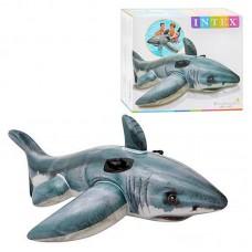 Детский надувной плотик 57525 Белая акула