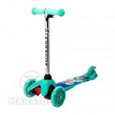 Детский трёхколёсный самокат Maraton Mini Бирюзовый