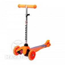 Детский трёхколёсный самокат Maraton Mini Оранжевый