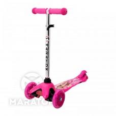 Детский трёхколёсный самокат Maraton Mini Розовый